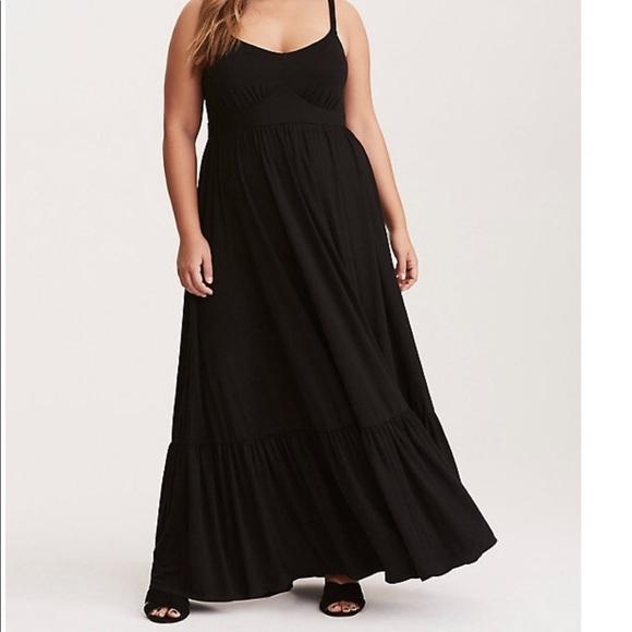 919cb443c74 TORRID tiered maxi dress goth punk gypsy boho moon.  M 5c2301b94ab633f5175ebd22